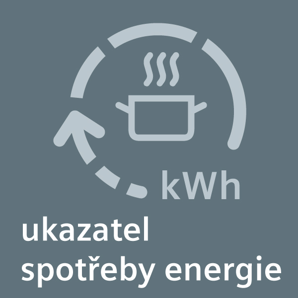 Pro energeticky účinnější vaření: ukazatel spotřeby energie.