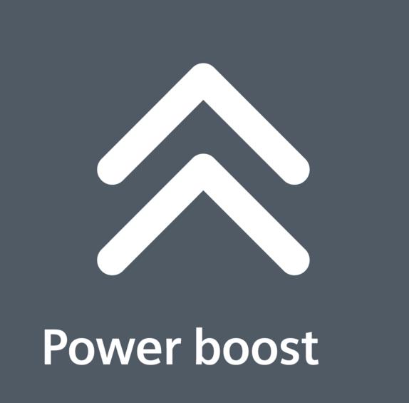 powerBoost: intenzivní stupeň.