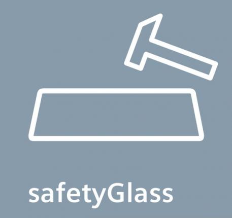 Police z bezpečnostného skla.