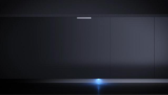 Svetelný signál na podlahe