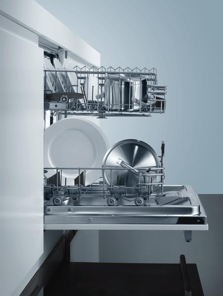 Ve třech úrovních výškově nastavitelný horní koš - rackMatic.