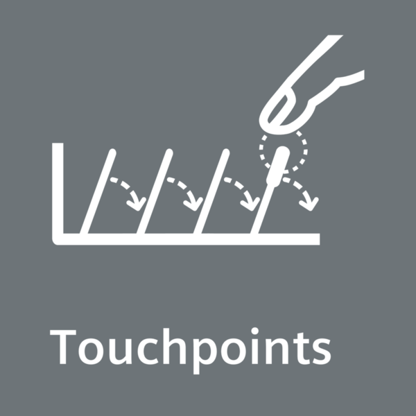 Flexibilné pohodlie pri nakladaní: označenie nastaviteľných častí pomocou Touchpoints.