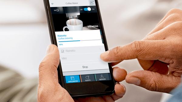 Home Connect Dokonalé připojení k vašemu kávovaru - Home Connect.