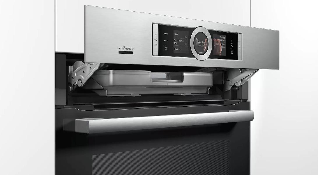 Parní trouba HSG636XS6 s technologií Home Connect